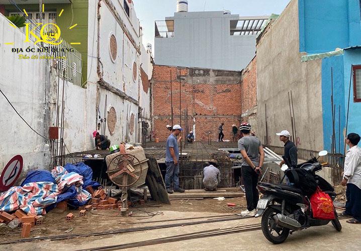 Công trình tòa nhà căn hộ dịch vụ cho thuê đường Trần Quang Khải quận 1 đang thi công