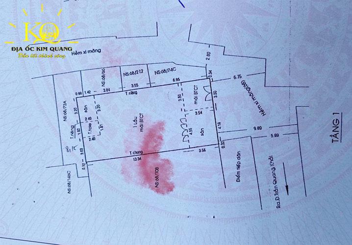 Layout tầng 1 tòa nhà căn hộ dịch vụ cho thuê đường Trần Quang Khải quận 1