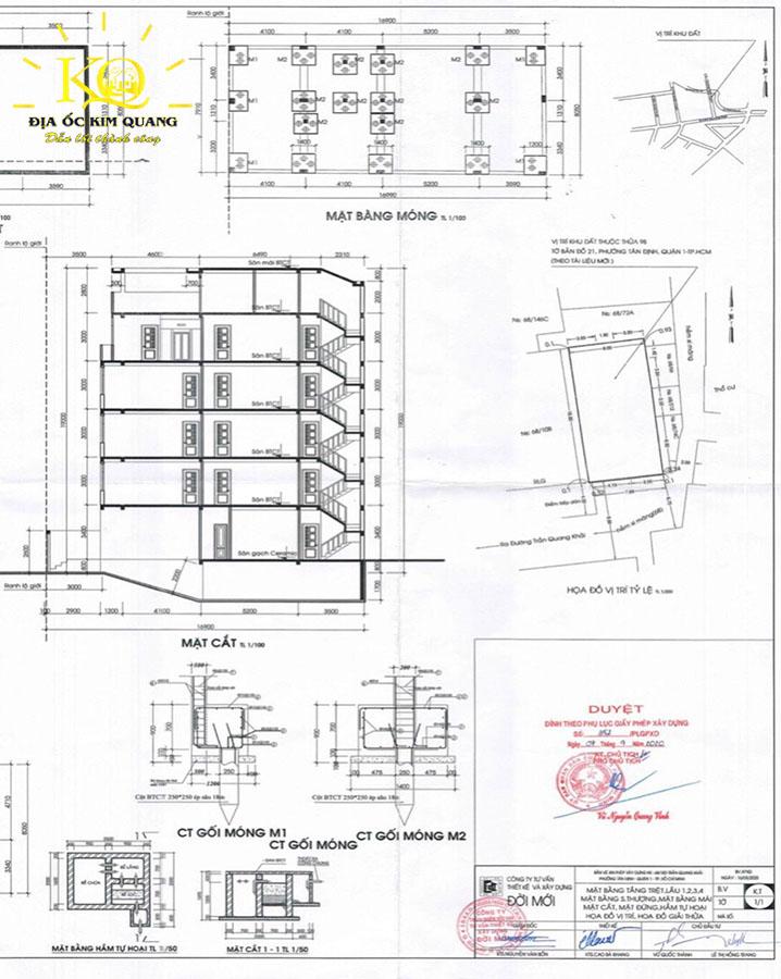 Layout tổng thể tòa nhà căn hộ dịch vụ cho thuê đường Trần Quang Khải quận 1