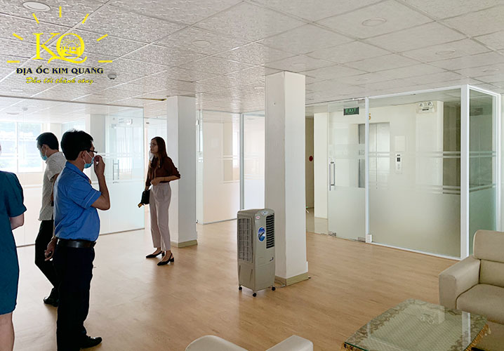 Diện tích trống tầng lầu của tòa nhà văn phòng cho thuê nguyên căn đường Pasteur quận 1
